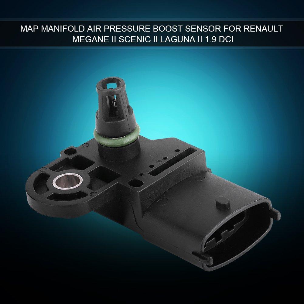 Qiilu MAP Sensor Car Manifold Air Pressure Boost Sensor for Unviersal Car Megane II Scenic II Laguna II 1.9 dCi
