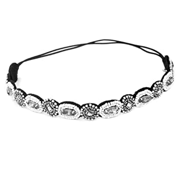 Amazon.com   Rhinestone Headband Fashion Crystal Bead Head Band Beauty  Wedding Party Hairband for Women   Beauty 0d41d13a48d