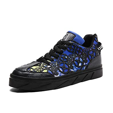 Shoes Mens Casual Shoes Lace-up Sneakers Outdoor Running Comfort Driving Shoes (Color : Black Size : 42)