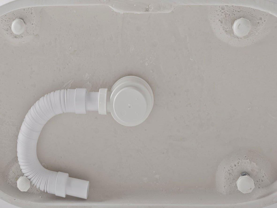 Freistehende Badewanne Pearl Mineralguß 178 x 90 mit Clic Clac ... | {Freistehende badewanne eckig mineralguss 78}