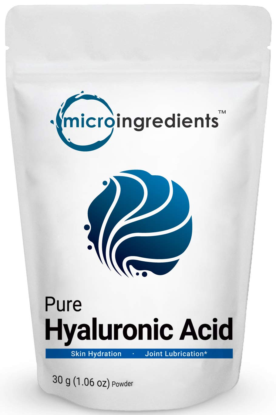 Pure Hyaluronic Acid Serum Powder, Making Anti Aging Serum for Face and Skin, 30 Gram, Powerfully Support Antioxidant, Hydration and Moisture, No GMOs, Vegan by Micro Ingredients