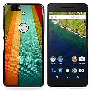 - Textile Texture Orange Pastel Tones Lines/ Duro Snap en el tel????fono celular de la cubierta - Cao - For Huawei Nexus 6P