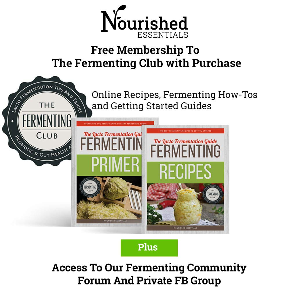 Easy Fermenter Wide Mouth Lid Kit (3 Lids + 3 Weights + Pump) - The Complete Starter Kit With Everything You Need To Begin Fermenting by Nourished Essentials (Image #6)