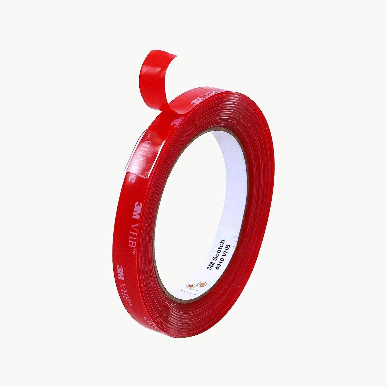Ruban de montage /à usage intensif 3M 1,0-2,0 mm Largeur Ruban adh/ésif double face en mousse acrylique transparent 3 m par IVALLEY // /Épaisseur: 10 mm Longueur 4910