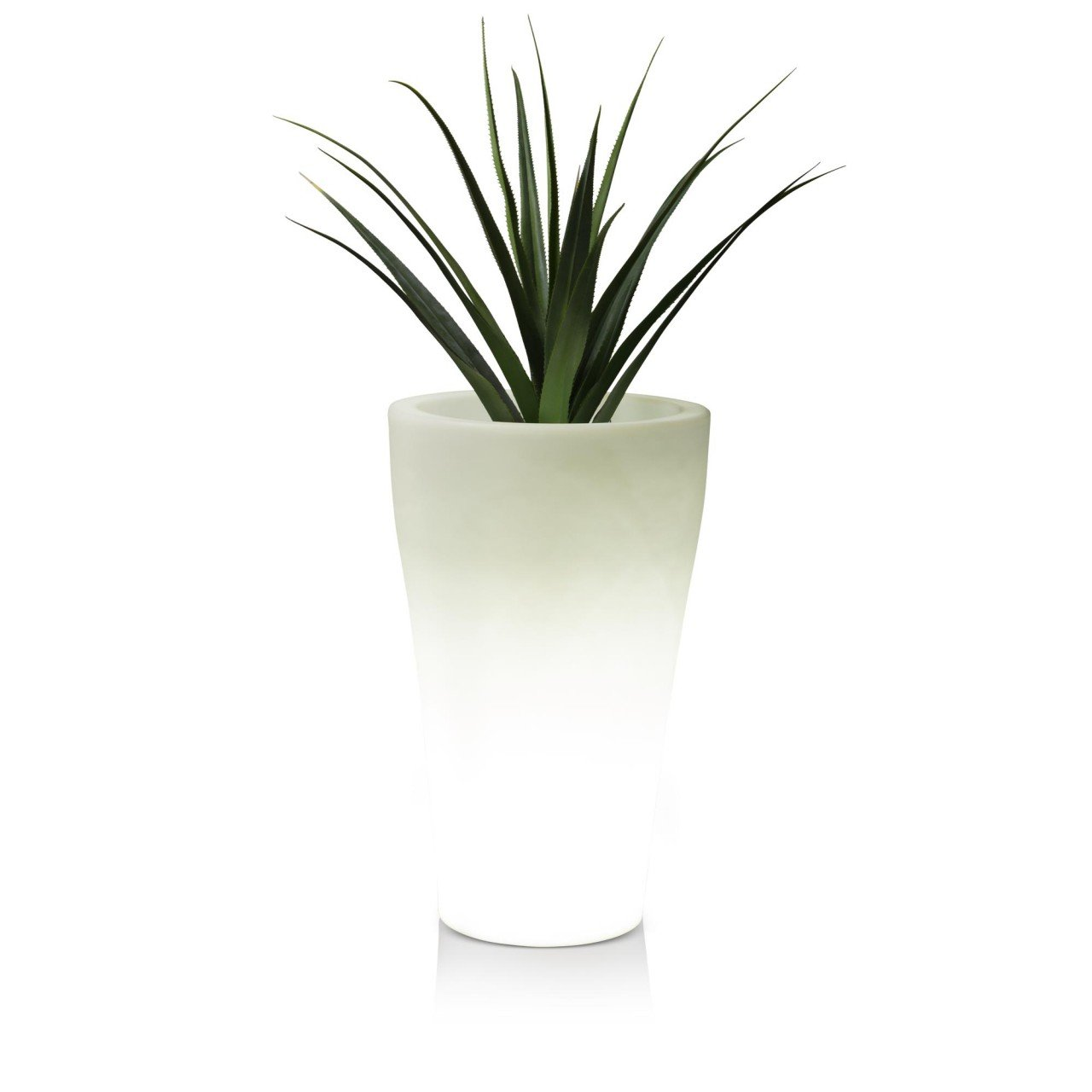 pflanzk bel blumenk bel flora luz 80 kunststoff 50x50x80 cm gartenleuchte blumentopf design. Black Bedroom Furniture Sets. Home Design Ideas
