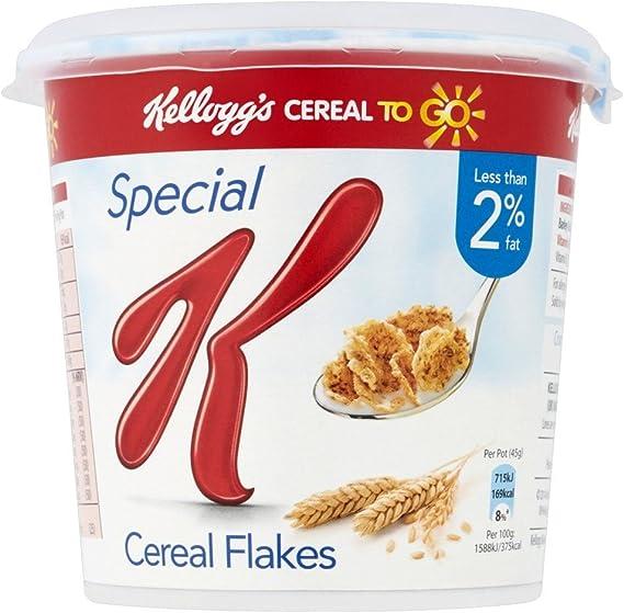 Kelloggs Special K - Bote de cereales - 45 g - Pack de 4 unidades: Amazon.es: Alimentación y bebidas