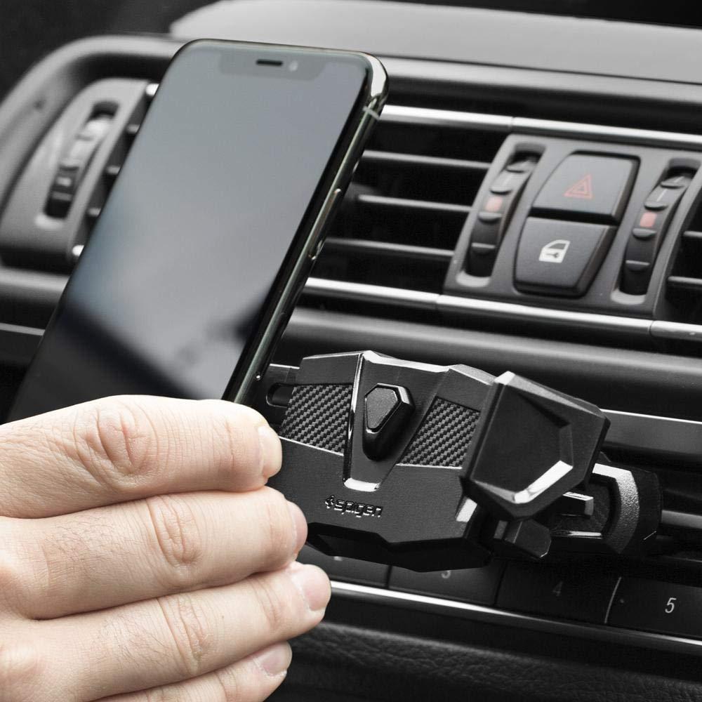 best authentic a7ca4 09b0e Spigen Kuel TMS24 One Tap CD Slot Car Mount Holder Compatible with iPhone X  / 8/8 Plus / 7/7 Plus/Galaxy S9 / S9 Plus / S8 / S8 Plus/Note 8 and More