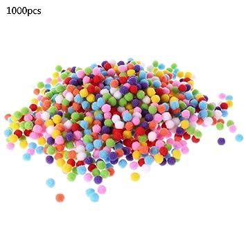 100//500//1000er Bunt Mini Pompons Kinder zum Basteln toll Figuren und