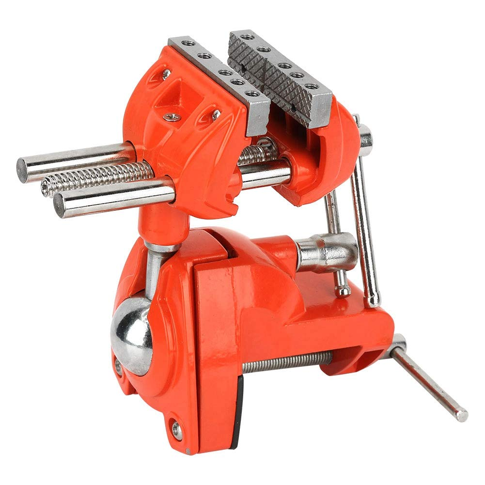 360° Rotating Bench Clamps Vise 70mm Jaw Width Adjustable Milling Swivel Vise Table Clamp Vise for Workbench by Wal front