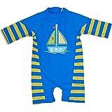 Baby Boys' UPF 50+ Short Sleeve Sun Protection Swimsuit