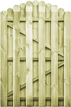 vidaXL Puerta Arqueada de Jardín Madera de Pino FSC 100x150 cm ...