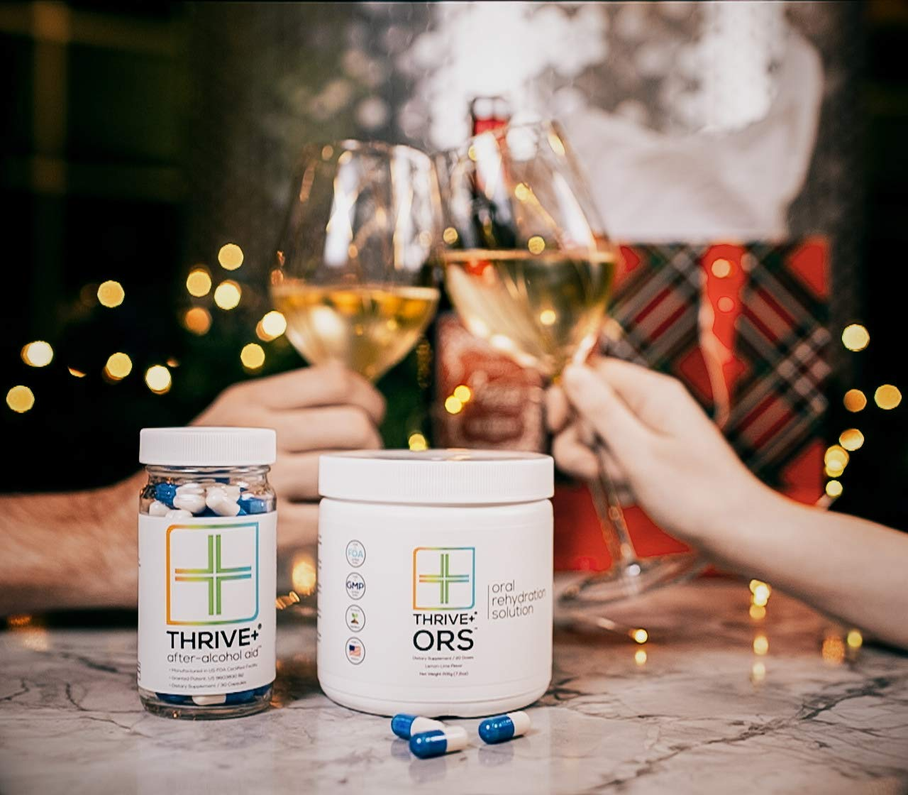 Thrive+ After Alcohol Aid & Ors Combo | for Fast Alcohol Detox & Rehydration Recovery After Drinking Alcohol. Replenish with Our Electrolyte Formula …