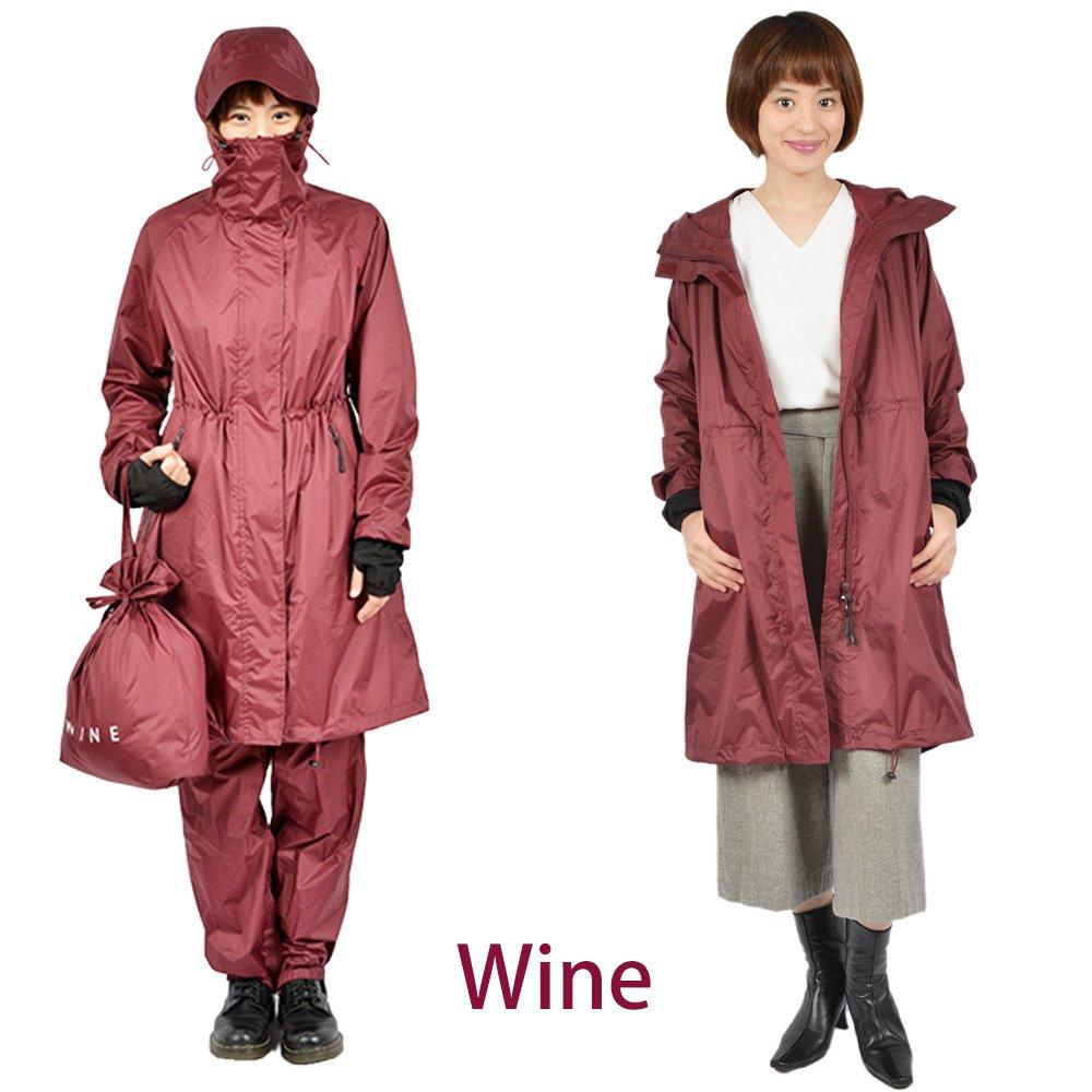 ハローエンジェル レインコート B07D5FNC4L M|ワイン ワイン M
