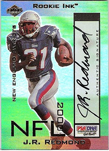 Collectors Card Autographed Edge (J. R. REDMOND -RB- (PATRIOTS) Signed 1596 of 1610 Certified 2000 COLLECTOR'S EDGE TRADING CARD - Autographed Football Cards)
