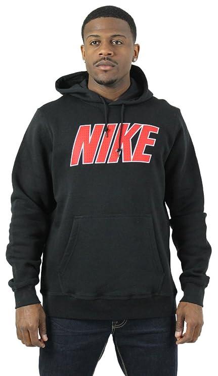 d223e7144 Amazon.com: Nike Club Swoosh Logo Men's Hoodie Sweatshirt Black Size ...