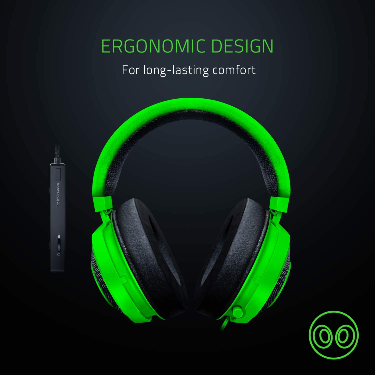 Razer Kraken Tournament Edition: THX Spatial Audio - Full Audio Control - Cooling Gel-Infused Ear Cushions - Gaming Headset Works with PC, PS4, Xbox One, Switch, & Mobile Devices - Black by Razer (Image #6)