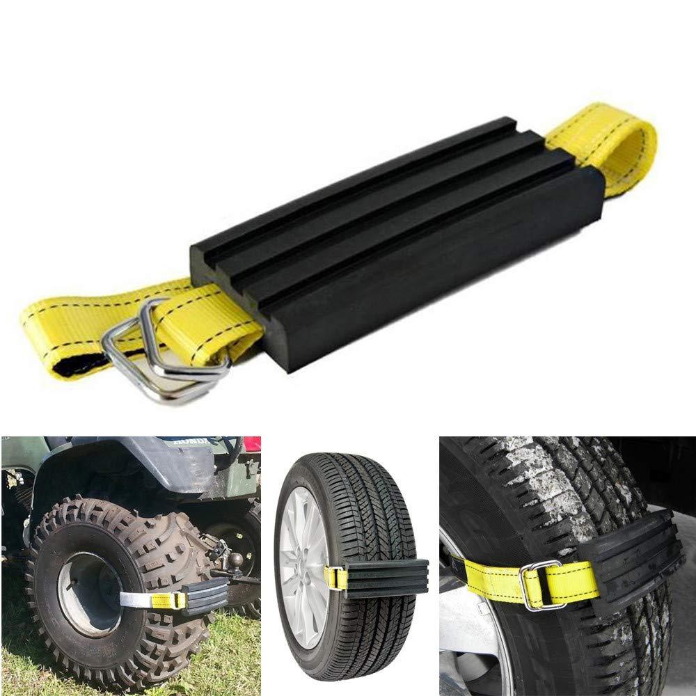 Anti-Skid Tire Blocks, Elevin(TM) Car Tire Anti-Skid Block Vehicle Emergency Snow Chain Universal Anti-Skid (Yellow) Car Dent Repair Tools 2