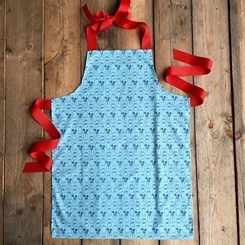 Red and Blue Art Craft Kitchen Apron for Girls from Sara Sews