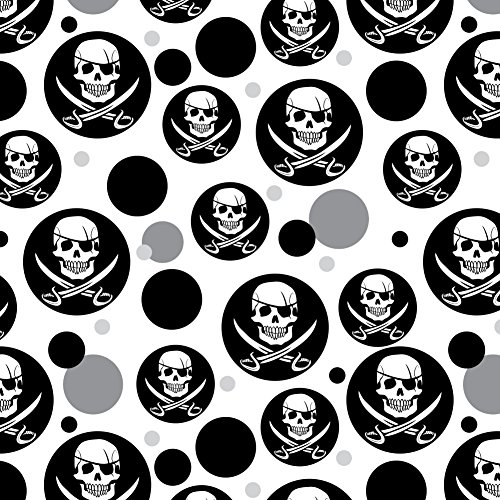 Swords Jolly Roger (Pirate Skull Crossed Swords Jolly Roger Premium Gift Wrap Wrapping Paper Roll)