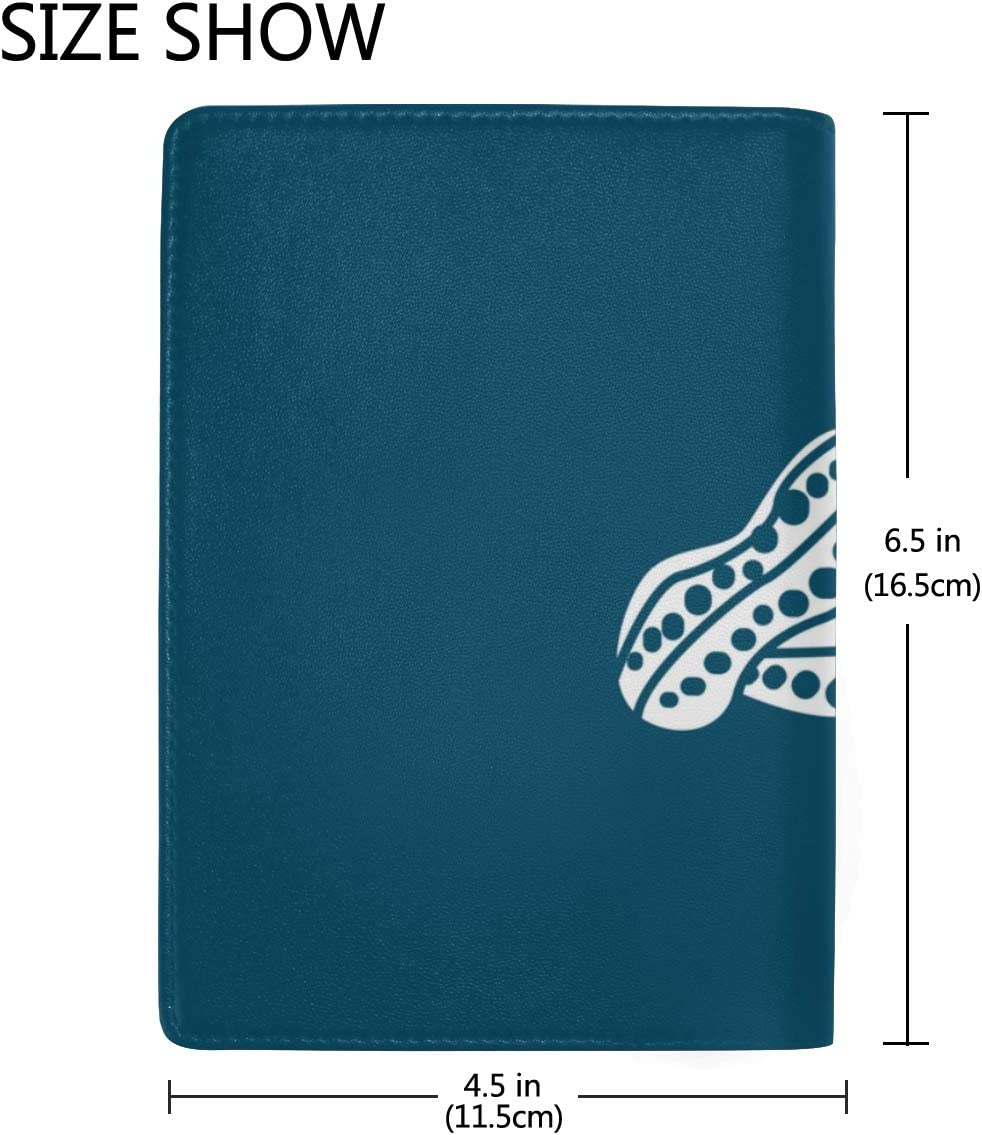 Delicious Raw Peanut Pods Blocking Print Passport Holder Cover Case Travel Luggage Passport Wallet Card Holder Made With Leather For Men Women Kids Family