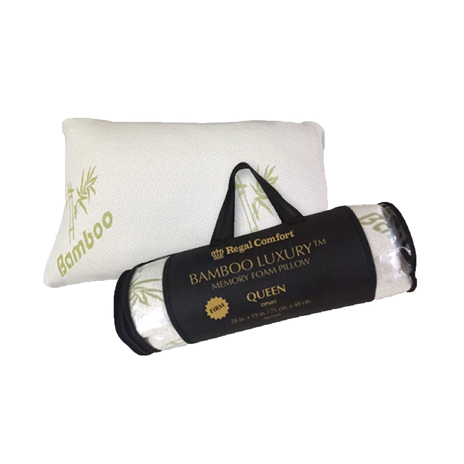 amazoncom regal comfort bamboo firm memory foam bed pillow queen home u0026 kitchen