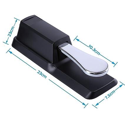 ... y teclados electrónicos, pedal universal de piano con interruptor de polaridad para teclado MIDI, Piano digital, síntesizadores, módulo de sonido: ...