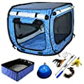 Pet Fit For Life Collapsible Cat Bed/House/Carrier with Portable Litter Box and Bonus Pet Fit For Life Cat Feather Toy and Collapsible Bowl from Equipt4 LLC