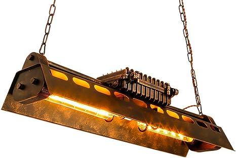 Lampade a sospensione industriale retro lampadario plafoniere pendente (4 x e27) kjlars vintage J2306