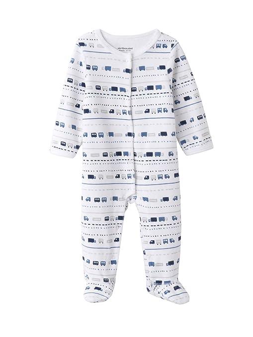 f346c77b39 VERTBAUDET Lote de 2 pijamas estampados de terciopelo automáticos delante  bebé Azul Claro 9M - 71CM