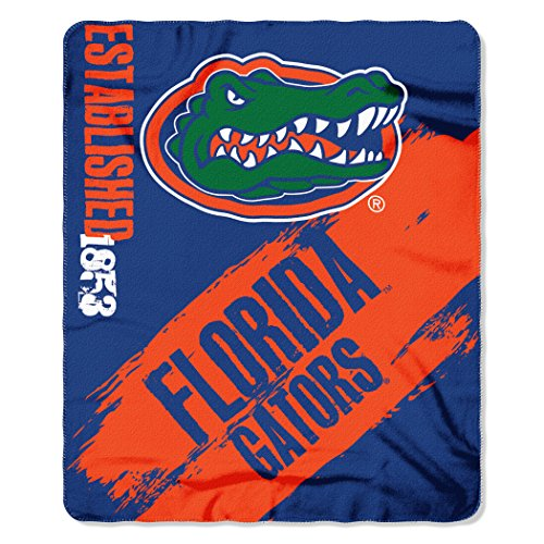 - NCAA Florida Gators Painted Printed Fleece Throw Blanket, 50