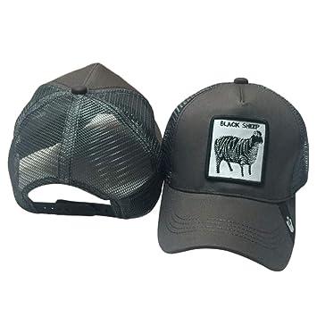 chenpaif Unisex Animales Bordado Parche Gorra de béisbol Hip Hop Snapback Malla Trucker Hat 4# Sheep + Gris: Amazon.es: Hogar