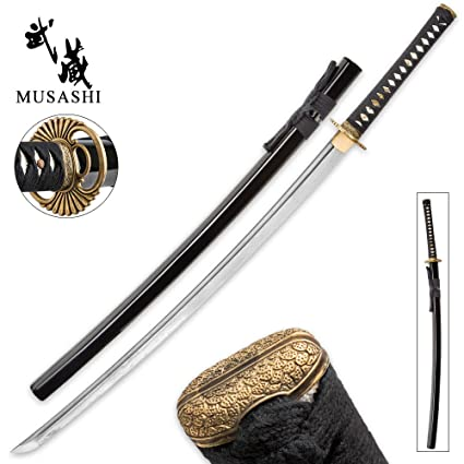 "26/"" FULL TANG RED FLAMES NINJA SABER SWORD w// SHEATH Samurai Katana Japanese"