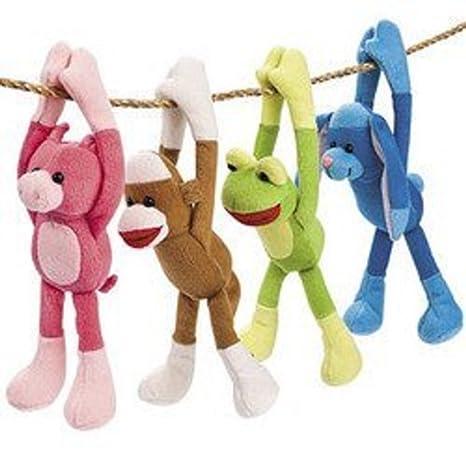 Long Arm Sock Monkey Friends 1 Dozen Bulk