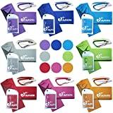 #2: Alfamo Cooling Towel for Sports, Workout, Fitness, Gym, Yoga, Pilates, Travel, Camping & More