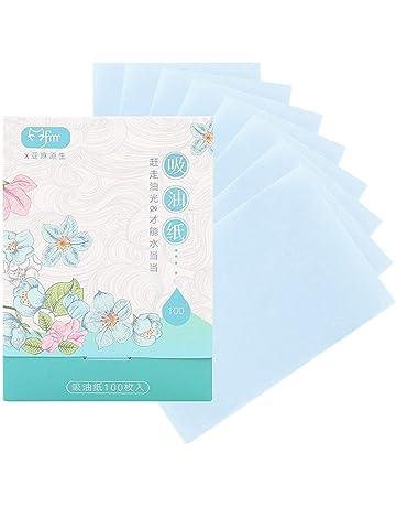Lino hermoso 100 piezas de papel absorbente de aceite azul cielo