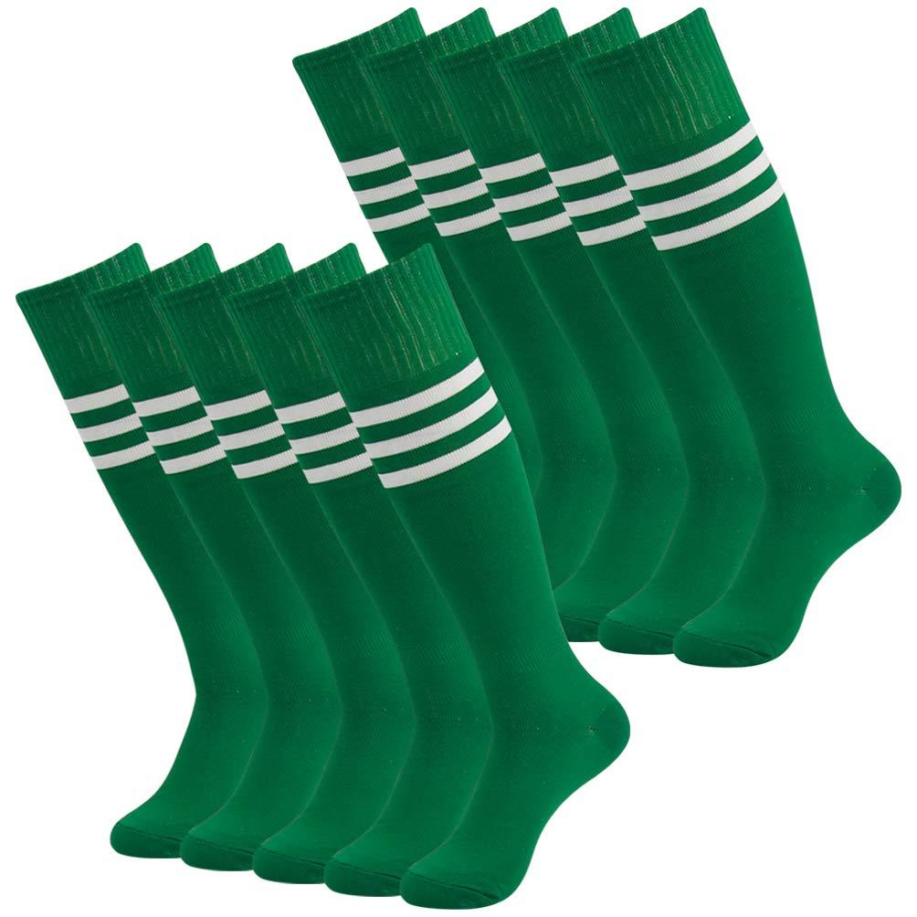 J'colour SOCKSHOSIERY メンズ 10 Pairs 緑&白い Stripe