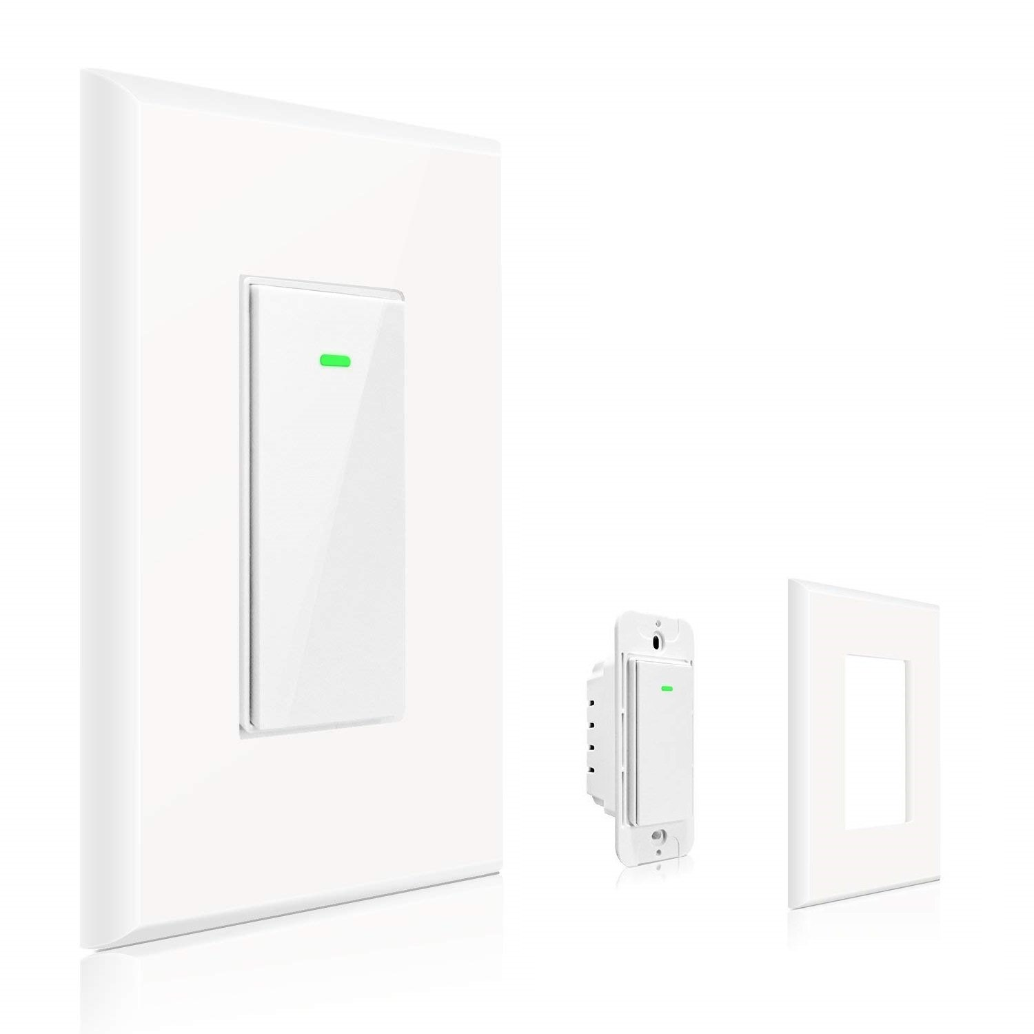 Maxcio Smart Wi-Fi Light Switch, No Hub Required, Compatible with Amazon  Alexa and Google Assistant, Remote Control/Schedule Your Fixtures Anywhere  - 15A ...