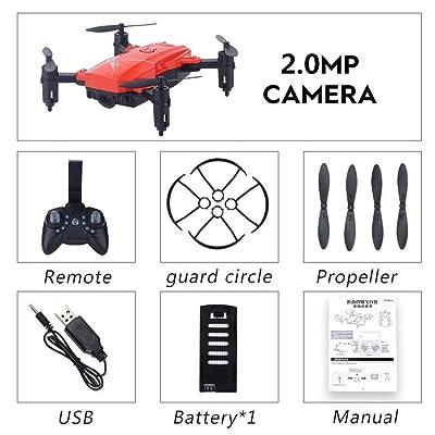 Heaviesk LF602 2.4G Mini FPV RC Quadcopter Drone Aircraft Plegable con cámara 720P HD WiFi Gesto Selfie Altitude Hold: Deportes y aire libre