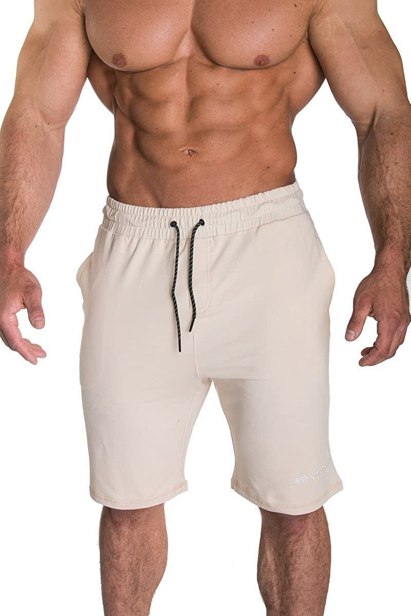 Jed North Men's Casual Cotton Bodybuilding Gym Running Workout Shorts JNBTM048P
