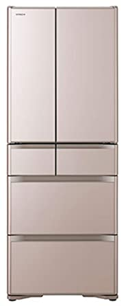 日立 冷蔵庫 505L 6ドア フレンチドア 日本製 幅68.5cm 奥行69.9cm スポット冷蔵 真空チルド 新鮮スリープ野菜室 クリスタルシャンパン R-XG51J XN