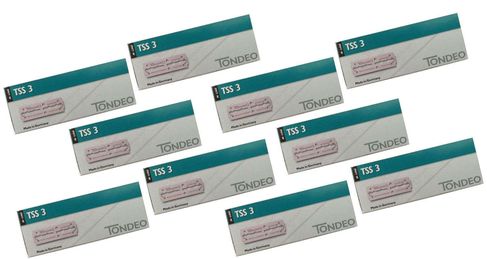 Tondeo BLADES 10-Pack for TONDEO Sifter RAZOR (10-10 Pack Razor Blades) by CacheBeauty