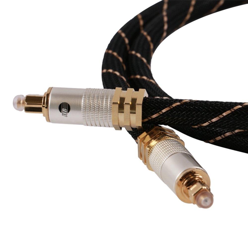 Jib Digital Glass Digital de cable, 8 mm Toslink S/PDIF Jack 1 m: Amazon.es: Electrónica
