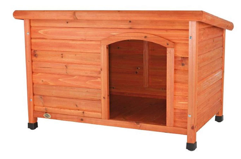 Wood Dog House. Medium Size. Lucien Club Wood Dog House