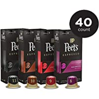 Peet's Coffee Espresso Capsules Variety Pack 10 Each (40 Count) Compatible with Nespresso Original Brewers Single Cup Coffee Pods