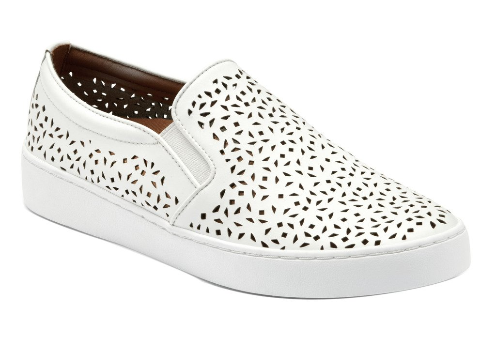 Vionic Women's Midi Perf Slip-on Sneaker White 11 M by Vionic