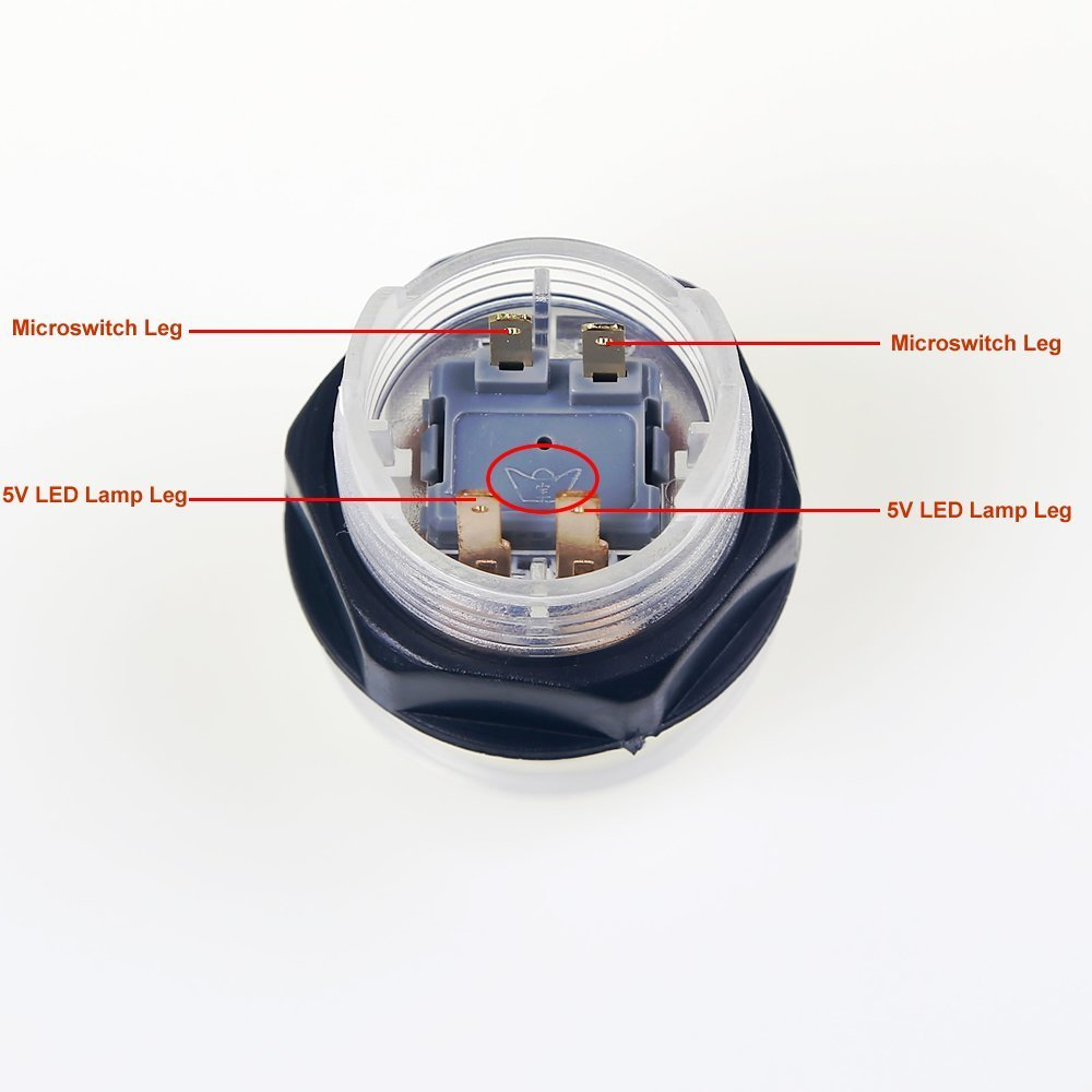 100mm Dome Shape Illuminated Button With Microswitch For Arcade MAME JAMMA Games