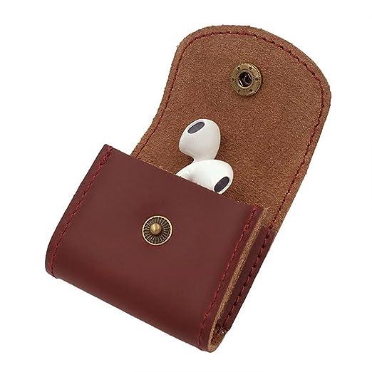 Echtes Leder Kopfhörer Tasche Ohrhörer Hülle Kabel Draht Organisator ...