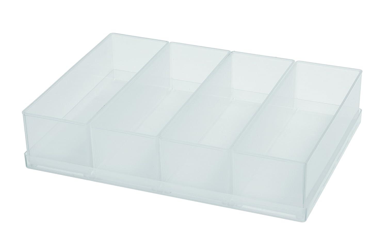 Raaco 136457 - Inserto para organizador, tipo 55 A, 4 compartimentos de A8-2, transparente