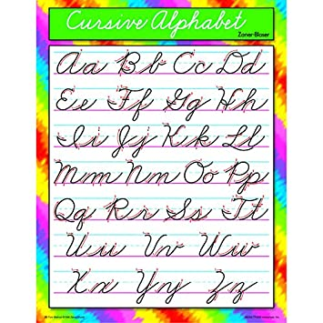 Number Names Worksheets alphabetical cursive : Amazon.com : Trend Enterprises Cursive Alphabet Zaner-Bloser ...