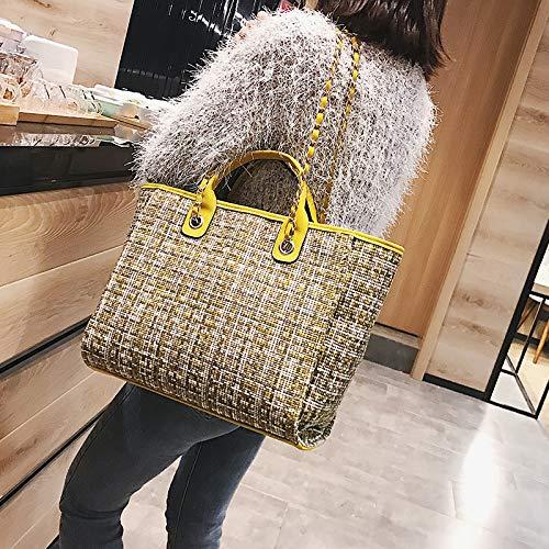 Colour di Stile 2018 di tendenza hilh colore americano amarillo lana europeo di Borsa Amarillo ed di spalle pacchetto Hit 01Aw5qA